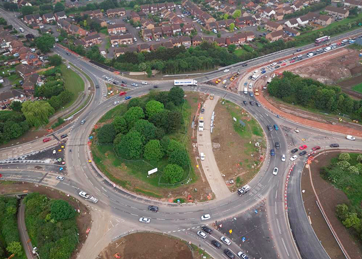 Elmbridge Court Roundabout, A40, Gloucestershire