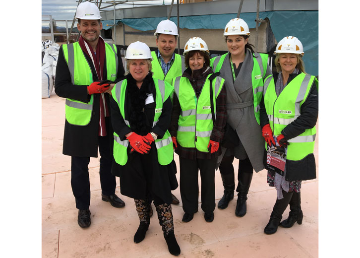 New Growth Hub and Business School Topping out Ceremony